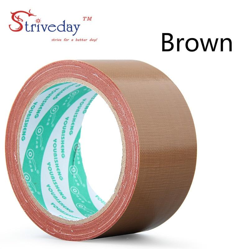 1 шт. 60 мм в ширину и 10 м цветная тканевая основа лента односторонняя сильная Водонепроницаемая без следа высокая вязкость ковер лента DIY - Цвет: Brown