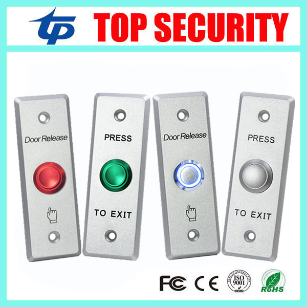 Free shipping Stainless Steel Metal Exit Button NO/NC/COM LED Light Exit Button Exit Switch For Door Access Control System lpsecurity stainless steel door access control led backlit led illuminated push button door lock release exit button switch