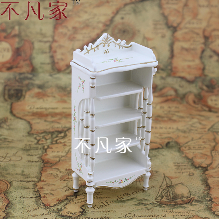 ФОТО 1/12 scale Doll house mini furniture dollhouse miniature white colored drawing baby cabinet finishing