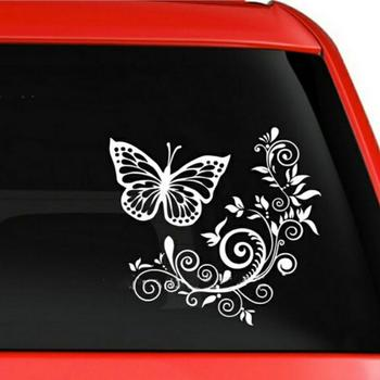 Butterfly Flower Car-Styling Vehicle Body Window Reflective Decals Sticker Decor 1