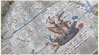 Vintage Zakka Linen 50cm 145cm Vintage Sailing Boat Map Cotton Linen Fabric Vintage Quilting Patchwork Tilda