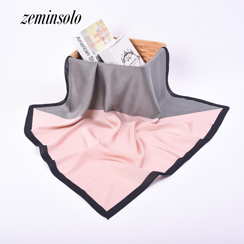 70*70cm Women Satin Square Scarf High Quality Imitated Silk Satin Scarves For Women Shaw ...
