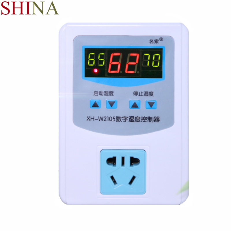 SHINA Digital Humidity Controller Humidity Controller High Precision Humidity Switch 0%-99% With Waterproof Probe 10% 99% rh humidity controller 220v 10a digital hygrometer with humidity sensor high accuracy for home industry