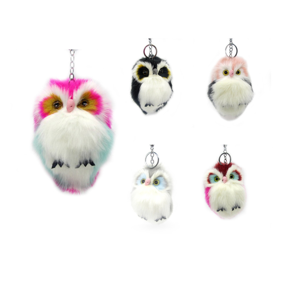 Faux Rabbit Fur Women Bag Accessories Gifts Cute Cartoon Fashion Decoration Portable Key Chain Pendant Car Backpack Jewelry Interior Accessories