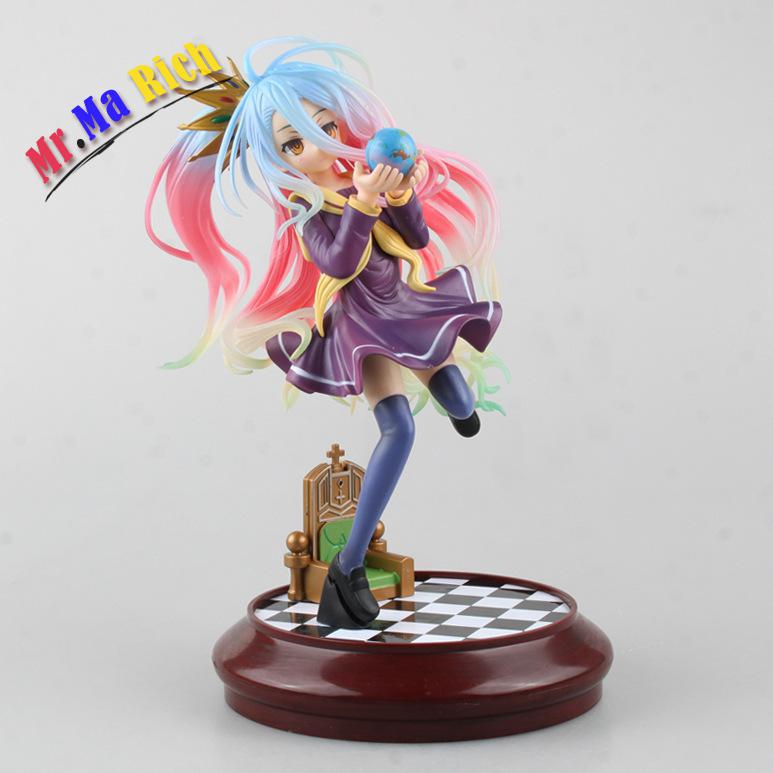 Anime Figure 22 Cm No Game No Life Imanity Shiro 1/7 Scale Painted Pvc Action Figure Collectible Model Toy Brinquedos 20cm anime life no game no life shiro game of life painted second generation game of life 1 7 scale pvc action figure model