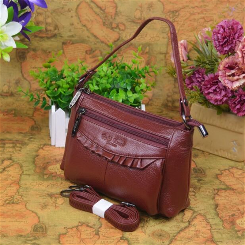 ФОТО 100% Genuine Leather Bag Casual Cow Leather Women Handbags Women Messenger Shoulder Bags Bolsas Feminina High Quality Phone Bag