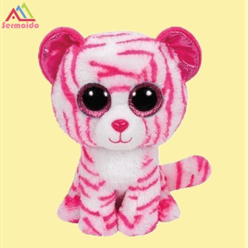 Sermoido 6 Ty Beanie Boo плюшевые-Asia тигра плюшевые игрушки куклы для маленьких девочек подарок на день рождения Набивные плюшевые игрушки большой С...