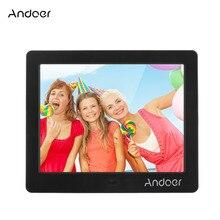 """Andoer 8 """"HD écran large haute résolution Photo numérique cadre Photo réveil MP3 MP4 lecteur de film avec cadeau de noël à distance"""