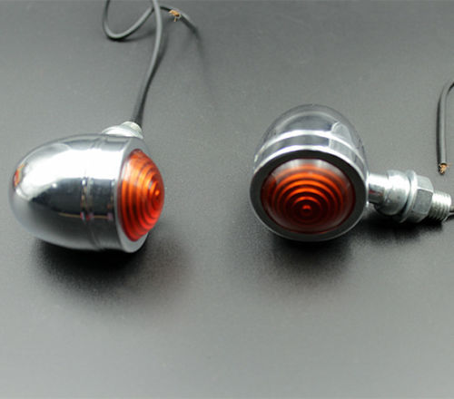 Pair Motorcycle Turn Signal Light Indicator Flasher Blinker Cafe Racer For Honda CBR Suzuki Chopper Harley