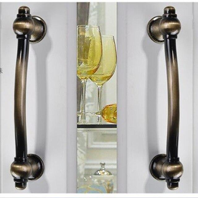96mm rustico vintage furniture handles brushed antique brass kitchen ...