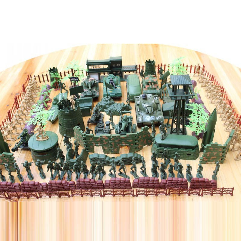 Free shipping 6cm soldiers were plastic nostalgic scenes of World War II military aircraft and artillery model kit 176pcs/set