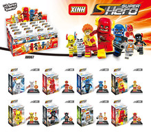 Super Heroes The Avengers Age of Ultron Flash Ray Velocity DC Minifigures XINH 067-074 Building Block Sets Toys