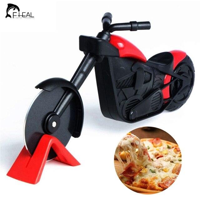 FHEAL мотоцикл резак для пиццы из нержавеющей стали круглый нож для пиццы нож велосипедный ролик для пиццы измельчитель ломтерезка пилинговые ножи