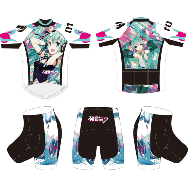 CUSROO Hatsune Miku Bicycle Cycle Clothing 2019 Mens Cycling Jersey set short  Sleeve Outdoor Sports Quick Dry MTB jersey set 5d378f4ff