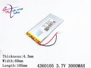 Image 3 - LÍT năng lượng pin máy tính bảng 4360105 3.7 V 3000 MAH 4060105 Đa Năng pin Li ion cho máy tính bảng 7 inch 8 inch 9 inch