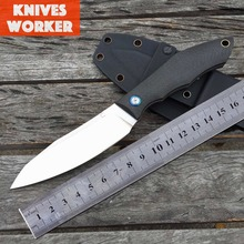 LDT CKF Tactical Fixed Knife Carbon Fiber Handle Sanding D2 Camping Straight Knives Outdoor Hunting Survival Pocket EDC Tools