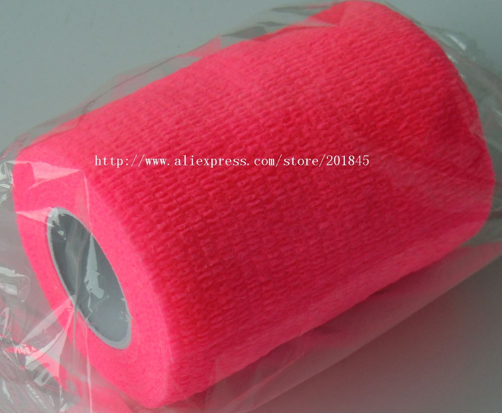 24Pcs/Lot 7.5cm x 4.5m Self Adhesive elastic Cohesive Fluorecent Nonwoven  Bandage wrap tape sports protection pool billiard cue cherry brown wood 11 75mm