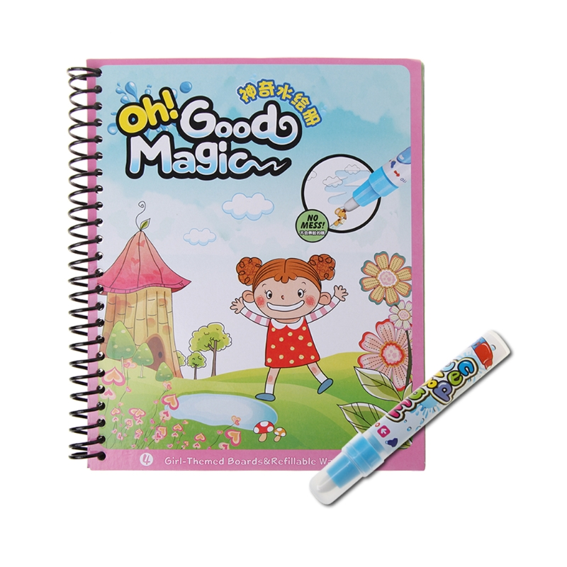 Children Magical Water Coloring Books Pen Set Drawing Books Gifts ...