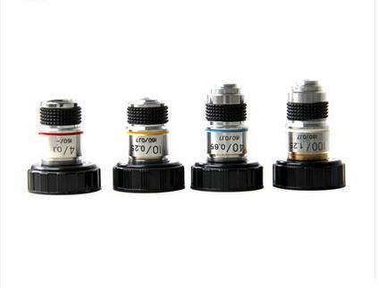 High Quality Microscope Achromatic Objectives 4X/10X/40X/100X for XSP- 30 Series 4x 10x 40x 100x biological microscope achromatic objectives lens 195 mm conjugate distance 160 0 17 microscope accessories