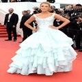 Fashion Tank Scalloped Ruffles Ball Gown Celebrity Dresses Organza Gossip Girl Dresses Formal Evening Gowns Vestidos De Festa