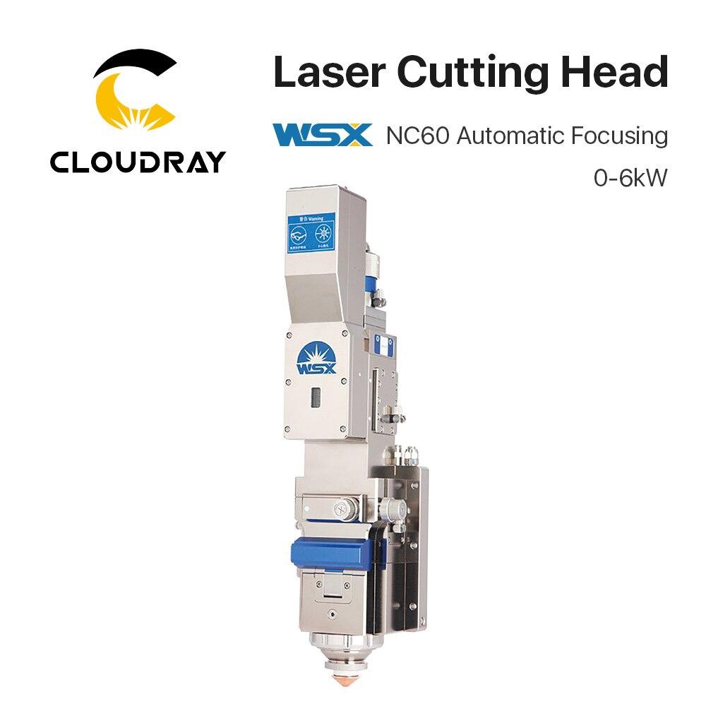 Cloudray WSX 0-6KW NC60 Automatic Focusing Fiber Laser Cutting Head 6000W High Power QBH For Metal Cutting