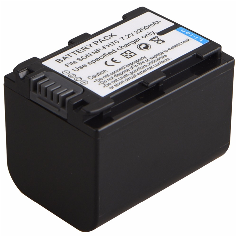 7.2V 2200mAh Rechargeable Camera Battery For <font><b>Sony</b></font> NP-FH30 FH40 FH60 FH50 NP-FH70 HDR-<font><b>CX110</b></font> HDR-XR SR Series Replacement Batertia image