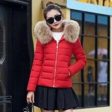 Zogaa Female Warm Winter Jacket 2019 Fashion Women Hooded Fur Collar Down Cotton Coat Solid Color Slim Large Size Female Coat стоимость