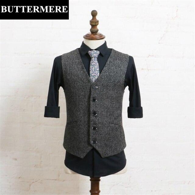 Mens Classic Vest Casual Styles Vintage Waistcoat Grey Sleeveless Jacket Autumn Spring Man Brand Vest Slim Fit Clothing