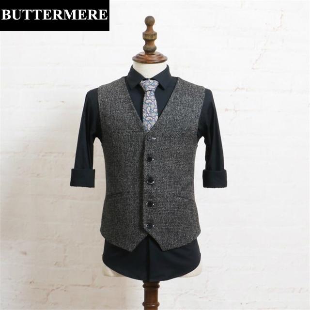 Mens classic estilos vintage gris chaleco sin mangas de la chaqueta chaleco ocasional otoño primavera hombre marca chaleco slim fit ropa