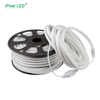 Mini size LED rope light 50m roll cuttable per meter white CCT 6500K high voltage ultra thin led neon flex