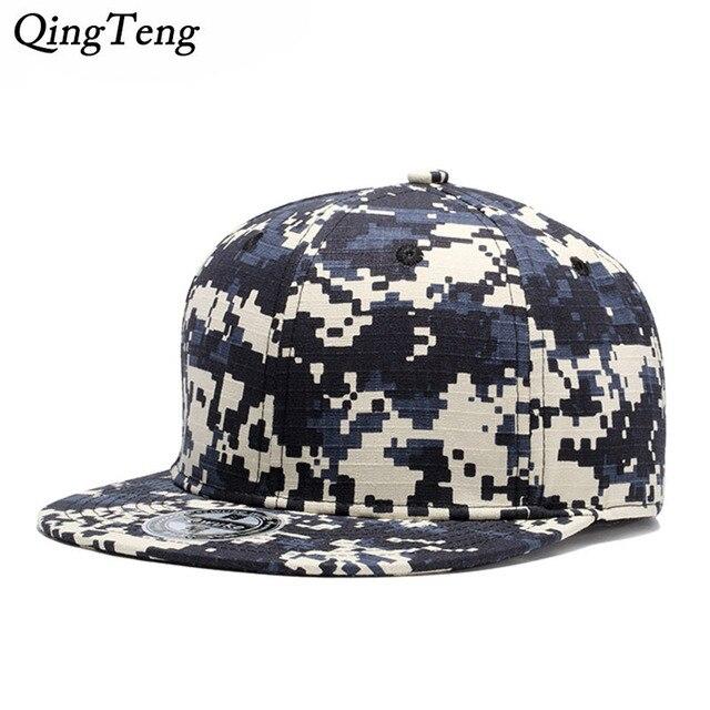 Nueva gorra de camuflaje Digital para hombre Gorras Planas Hip Hop Snapback  sombreros para mujer Casual 3d9c497bc18