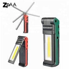 Portable LED Work Light 400 Lumens COB Flashlight, Magnetic Base & Hanging Hook,USB Rechargeable for Car Repairing, Emergency