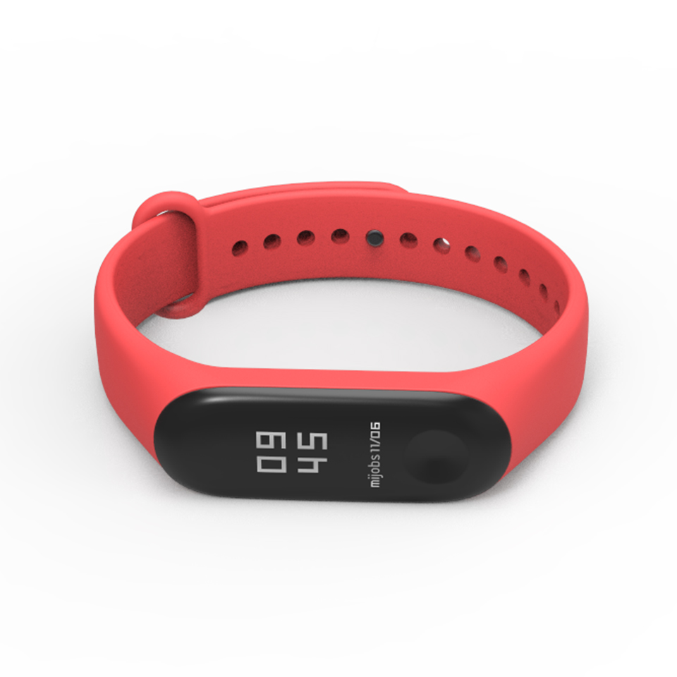 Image 5 - Bracelet Mijobs Mi Band 3 4 Strap Bracelet Silicone Wristband Miband 3 Strap Smart mi band3 Wrist for for Xiaomi Mi Band 3 Strap-in Smart Accessories from Consumer Electronics