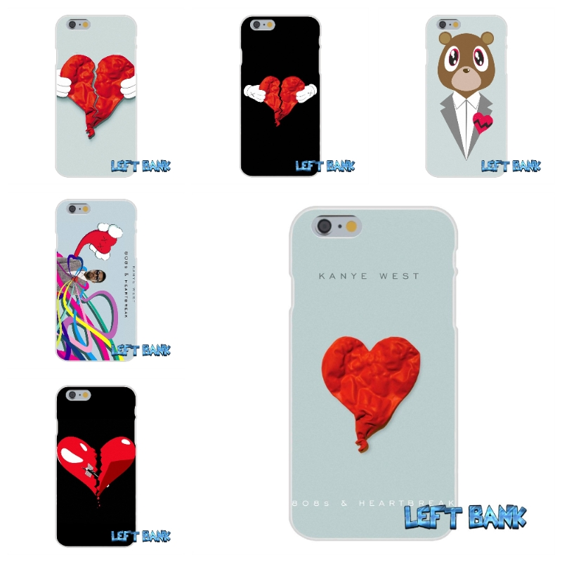 For iPhone 4 4S 5 5S 5C SE 6 6S 7 Plus 808S Kanye West And Heartbreak Soft Silicone TPU Transparent Cover Case