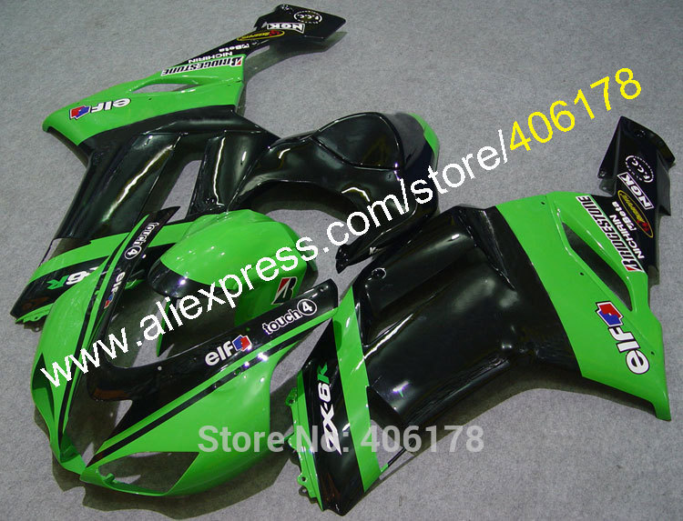 ①Ventas calientes, ZX6R 07 08 moto carenado para Kawasaki Ninja ZX ...