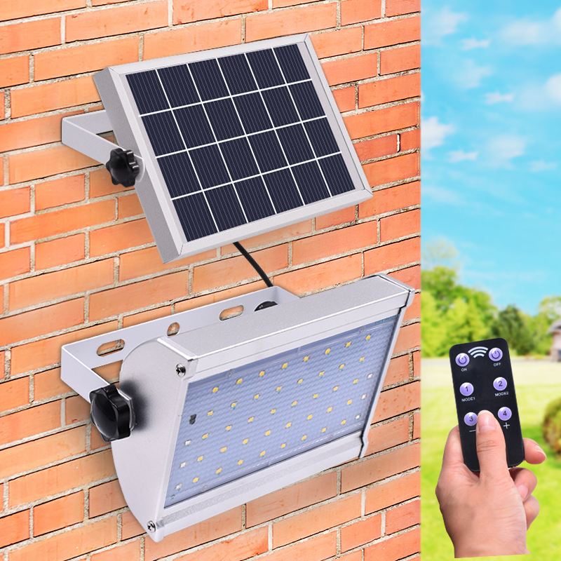 Newest 800lm Solar Lamp 46 leds Separable Outdoor Waterproof Garden Wall Yard Solar Light With Remote