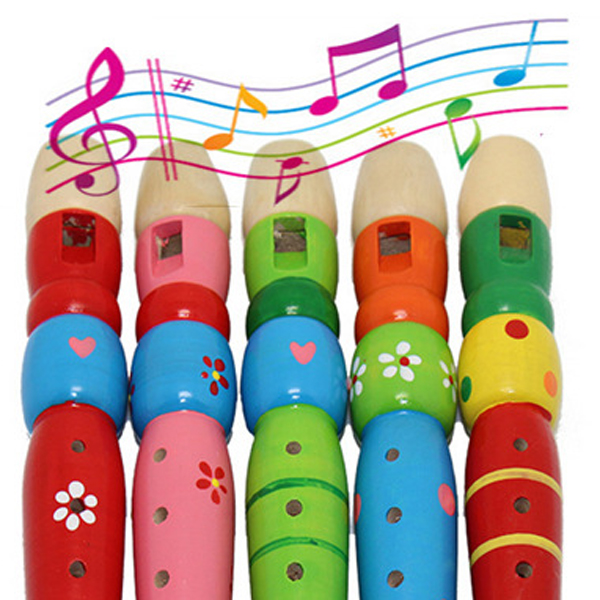 2015 New Well Designed Wooden Plastic Kid Piccolo Flute Musical Instrument Early Education Toy VB910 P
