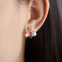 Everoyal Exquisite 925 Sterling Silver Earrings For Women Accessories Female Fashion Flower Pearl Girls Jewelry Hot