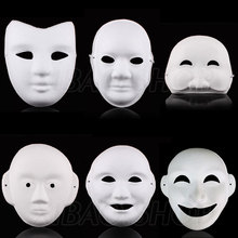 10pcs/lot  Paper Pulp Mask/Blank DIY Mask with Elastic Band, for Party/Festival/Game/Painting Exercise