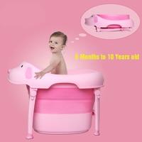 Foldable baby bath tub swim tub child portable for newborn Cartoon dog shape baby bathtub Eco friendly PP TPR 6M to 10Y