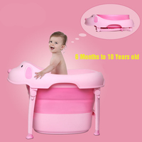 Foldable baby bath tub swim tub child portable for newborn Cartoon dog shape baby bathtub Eco friendly PP TPR 6M to 10Y