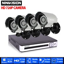 HD 2000TVL Wireless 3G CCTV home security video surveillance system 8CH 1080p NVR KIT DVR 720P outdoor security Camera system