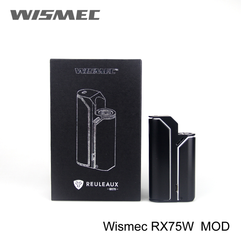 Original Wismec Reuleaux RX75 Box Mod Fit For Reuleaux RX75 TC 75W Starter Kit Fit 2ML Amor Mini Atomizer No Battery
