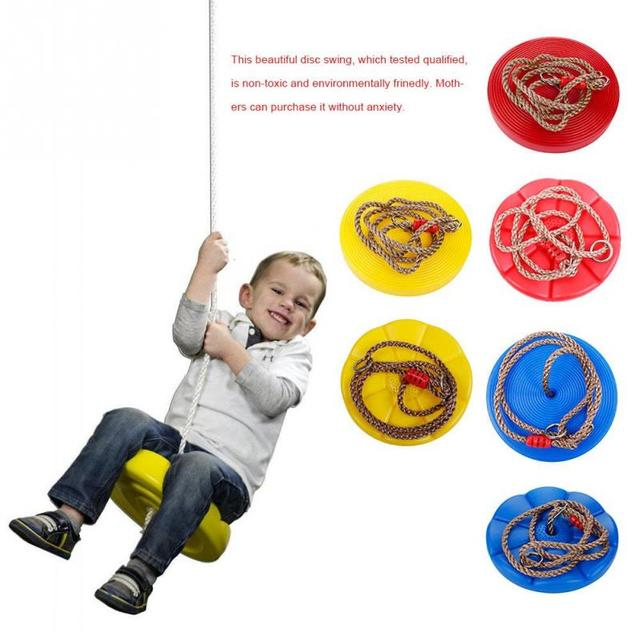 Kids Disc Swing Toy Outdoor Tree Hanging Disc Rope Swing Set Kids