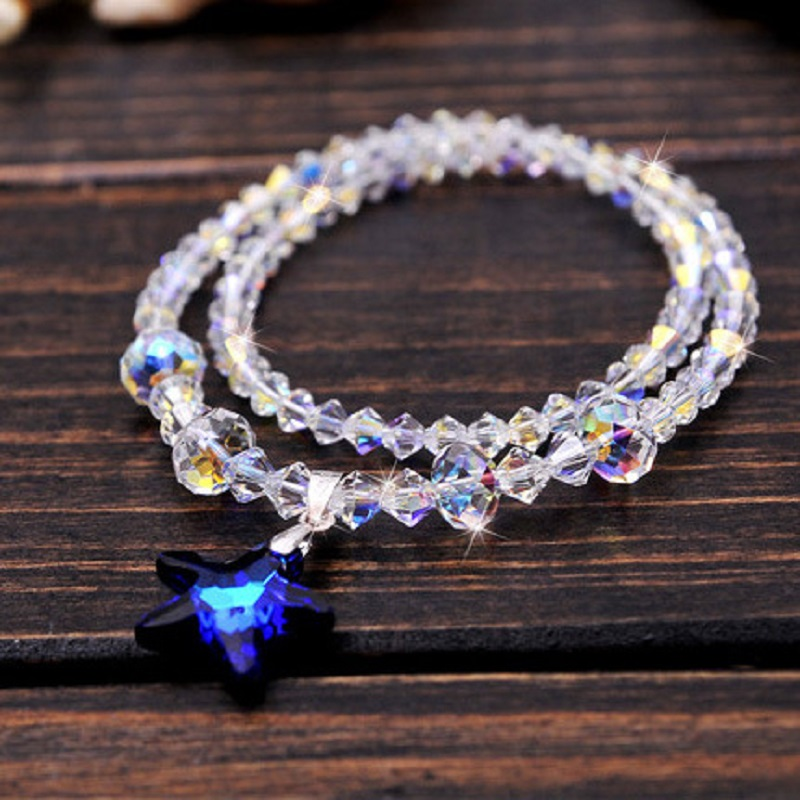 Fashion Luxury Starfish Shape Design Multilayer AAAA Crystal Bracelet Charm Women Wedding Anniversary Commemorate Gift Jewelry pair of starfish shape earrings for women
