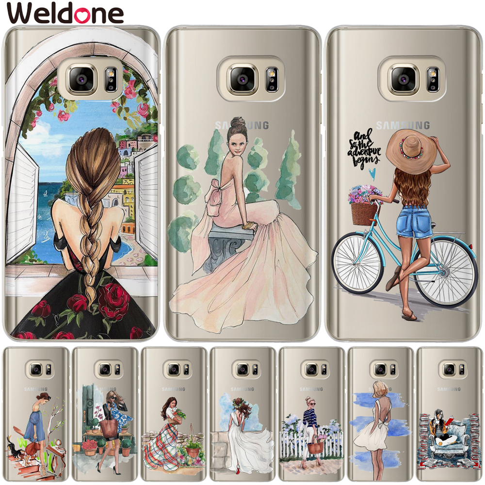 Cute Lovely New Arrival Fashion Girls Case For <font><b>Samsung</b></font> S9 Plus S7 S6 Edge S8 Plus G530 J3 <font><b>J7</b></font> J5 J2 prime <font><b>2016</b></font> 2017 Covers <font><b>Etui</b></font> image