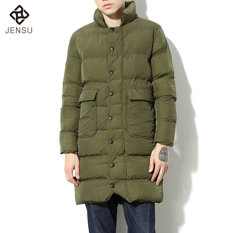ФОТО 2016 Men Winter Solid Color Padded Cotton Jackets Coats Men's Casual Fashion Slim Fit Winter Zipper Large Size Jackets Hombre