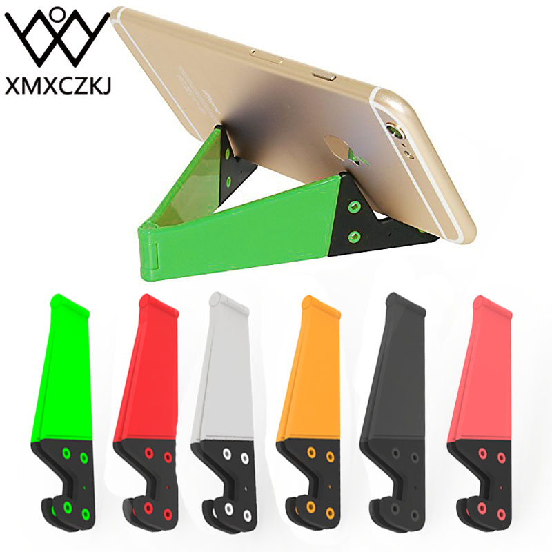 XMXCZKJ Universal V Shape Hands Free Plastic Folding Desk Table Mobile Phone Tablet Stand Mount Holder For Mobile Phone Stand
