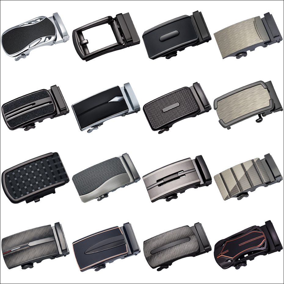Barry.Wang Automatic Ratchet Buckle Without Belt Glod/Black Buckle Only Changeable Slide Buckle Luxury Designer Dropshipping
