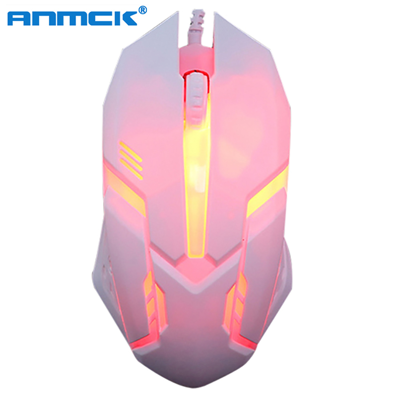 Wired USB Optical Gaming Colorful Light Mice Mouse For PC Laptop Desktop Game